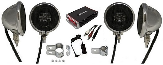 EXTREME - Polk Amplified Motorcycle Speaker System Featuring Rockford Fosgate Amplifier