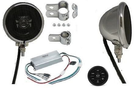Classic Amplified Motorcycle Speaker System CHROME BLUETOOTH EDITION