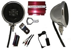 Amplified Chrome Speaker System - Complete Kit