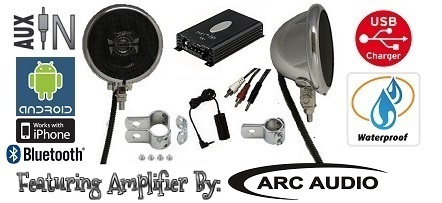 Polk Amplified  Motorcycle Speaker System Featuring ARC AUDIO Amplifier