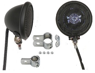 Unplugged BLACK Motorcycle Speakers