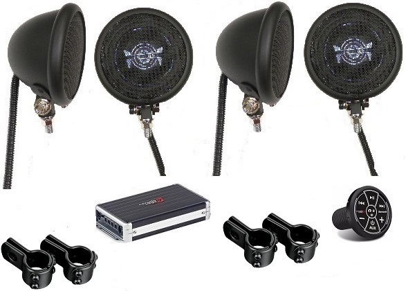 Extreme Motorcycle Speaker System BLACK Bluetooth Edition