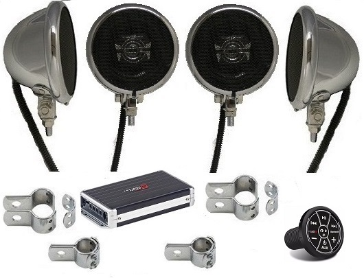 Extreme 1200 Watt Amplified Motorcycle Speaker System BLUETOOTH EDITION